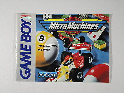 ¤ Micro Machines ¤  (MANUAL ONLY) Good! Game Boy GBA
