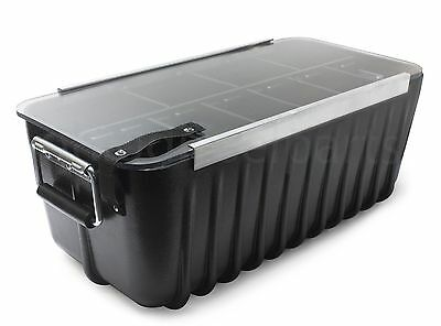 Large Plastic Storage Container Bin Box for Ammo, Equipment, Tools, or Outdoor