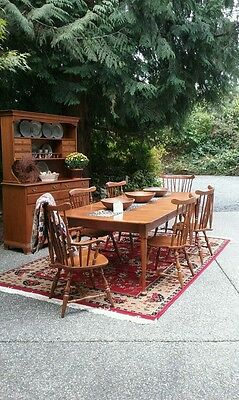 Vintage Retro Heywood Wakefield Dining Set Suite Table Chairs Hutch 1950S Modern