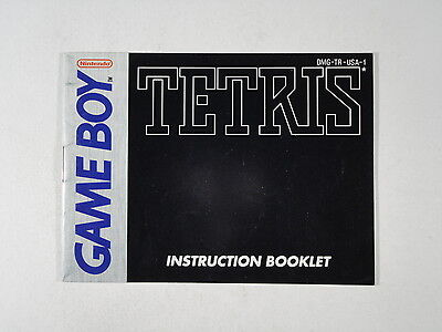 ¤ Tetris ¤  (MANUAL ONLY) GREAT Game Boy GBA
