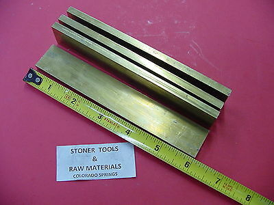"4 Pieces 1/4"" x 1"" C360 BRASS FLAT BAR 6"" long Solid .250"" Mill Stock H02"