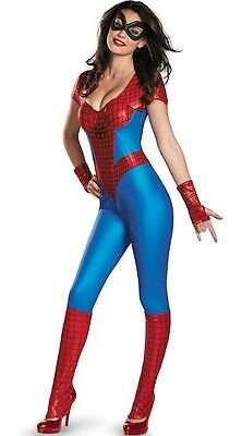 Adult Spider Girl Costume Marvel Spider Man Halloween Party Fancy Dress Outfit