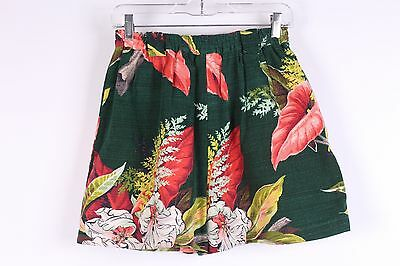 Vintage 50S Bark Cloth Shorts Womens Waist 28
