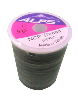 Alps 100yds of Black Rod Wrapping Thread - Size C (0.2mm) Rod Binding Cotton