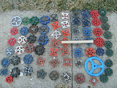 LARGER metal Vintage Industrial Water Valve Handles Steampunk Altered Art  (65)