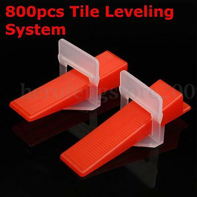 800 Tile Leveling System = 500 Clips + 300 Wedges Spacers Tiling Tools Plastic