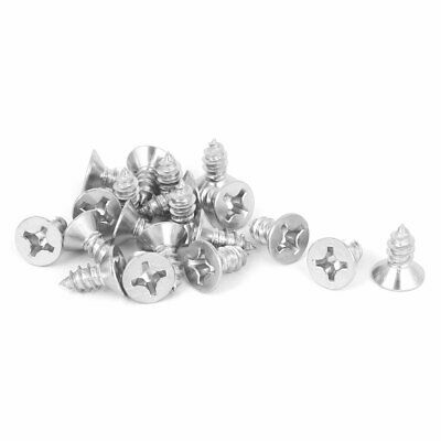 M5.5x13mm 316 Stainless Steel Flat Head Phillips Self Tapping Screws Bolts 20pcs