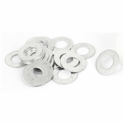 10mm x 20mm x 1mm Zinc Plated Flat Spacers Washers Gaskets Fasteners GB97 20PCS