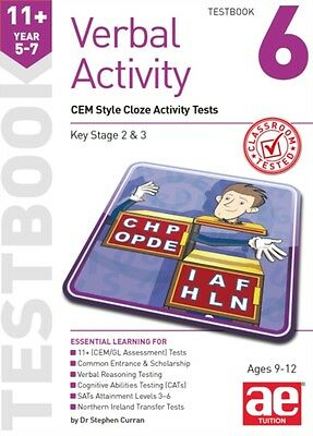 11+ Verbal Activity Year 5-7 Testbook 6: CEM Style Cloze Activity Tests 2015 (P.