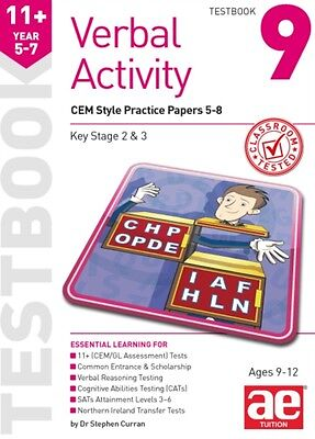 11+ Verbal Activity Year 5-7 Testbook 9: CEM Style Practice Papers 5-8 (Paperba.