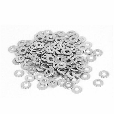 3mm x 7mm Zinc Plated Flat Spacers Washers Gaskets Fasteners GB97 100PCS