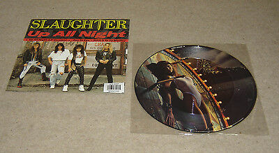 """Slaughter Up All Night 12"""" Single Picture Disc - EX"""
