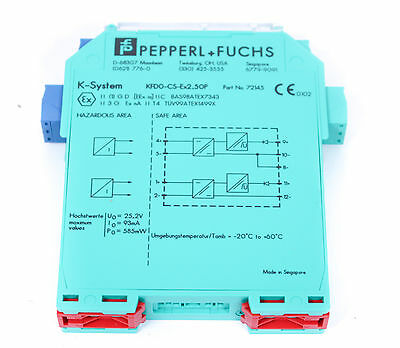 PEPPERL+FUCHS KFD0-CS-Ex2.50P Repeater 24 V 2-kanalige SIL2 Trennbarriere Analog