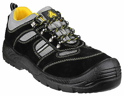 Amblers FS111 Safety Steel Toe Cap Mens Unisex Black Trainer UK3-12
