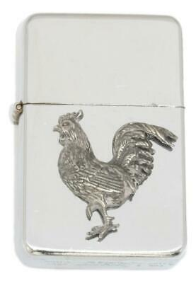 Chicken Emblem Windproof Petrol Lighter FREE ENGRAVING Personalised Gift 71