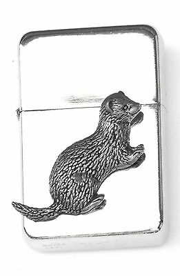 Ferret Emblem Windproof Petrol Lighter FREE ENGRAVING Personalised Gift 126