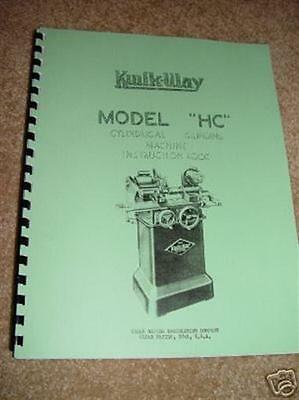Kwik Way Model HC Piston Grinder Manual