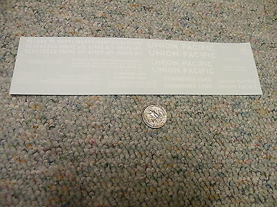 """Herald King decals O UP Union Pacific white letters 15' to 2"""" + numbers    XX5"""