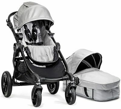 Baby Jogger City Select Stroller Silver w/ Bassinet Pram System Travel NEW 2016
