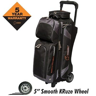 Hammer Premium BLACK/CARBON 3 Ball Roller Bowling Bag