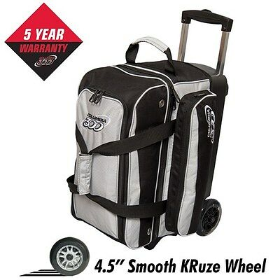 Columbia Icon Black/Silver 2 Ball Roller Bowling Bag