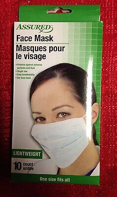 10 Surgical Dental Medical FACE MASK Disposable Dust Filter Mouth Cover Ear Loop