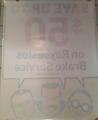 The Pep Boys Manny Moe & Jack Retail Auto Supply Store Window Cling Promo Sheet