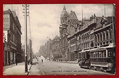 1907 Australia Melbourne Heritage post card used to England 1d VIC postage