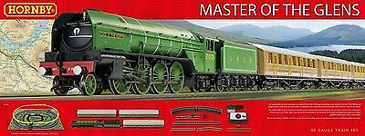 Hornby R1183 Master Of The Glens Model Train Set 00 Gauge DCC Ready New Sealed