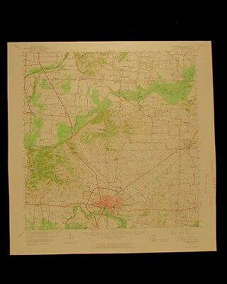 Dyersburg Tennessee vintage 1965 original USGS Topographical chart