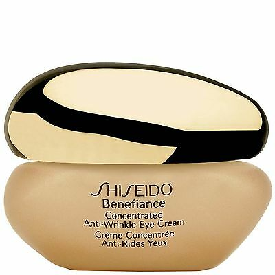 NEW Shiseido Benefiance Concentrated Anti-Wrinkle Eye Cream 15ml FREE P&P