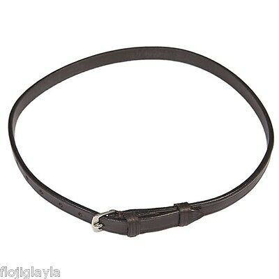 LEATHER NOSEBAND FLASH STRAP black OR brown  SIZES pony, cob & full