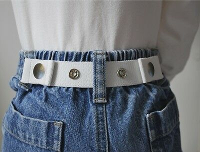 Dapper Snappers Original Toddler Pattern Belts - White