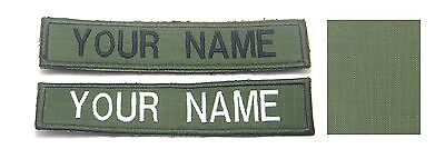 Custom Name Text Tag Military Army Green Embroidered Patch