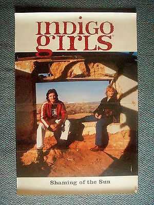 THE INDIGO GIRLS Shaming of the Sun - VINTAGE ORIGINAL 2-Sided POSTER