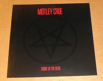 Motley Crue Shout at the Devil Poster Flat Square Promo 12x12 RARE