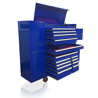 US PRO Tools Blue Tool Chest Box Snap it Up Massive cabinet Finance Available!