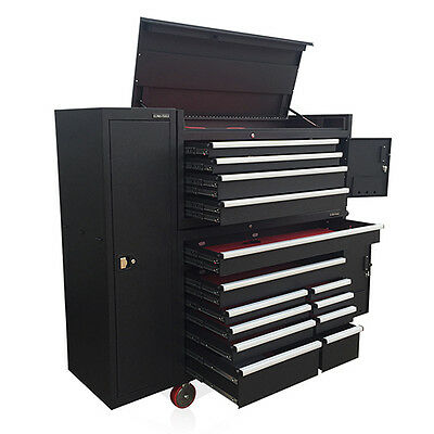 US PRO Tools Black Tool Chest Box Snap it Up Massive cabinet Finance Available!
