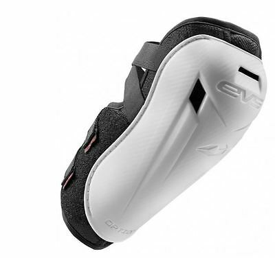 EVS Option Elbow Pad Guard Moto Dirt Bike MTB Racing Youth-Adult Pair WHITE