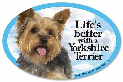Life's Better With A Yorkshire Terrier Dog Car Fridge Plastic Magnet Yorkie