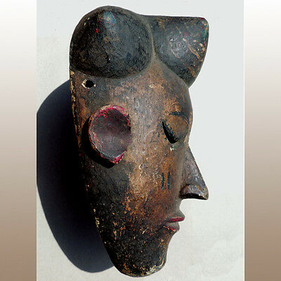 an authentic old antique ritually used african mask idoma nigeria #3