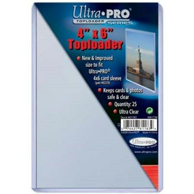 100 Ultra Pro 4x6 Postcard Photo Hard Rigid Ultra Clear Toploaders Topload NEW