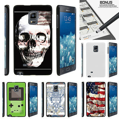 For Samsung Galaxy Note Edge N915 Case Hard Snap On 2 Piece Slim Shell USA Skull