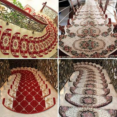 New Stair Tread European Style Floral Mats Non-slip Stair Carpet Step Rugs 1 PC