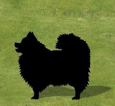 "**NEW** Handmade Lawn Art Yard Shadow Silhouette - Pomeranian Dog - 17"" x 15"""