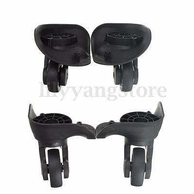 New 2PCS Left Right Luggage Suitcase Swivel Universal Wheels Replacement Black