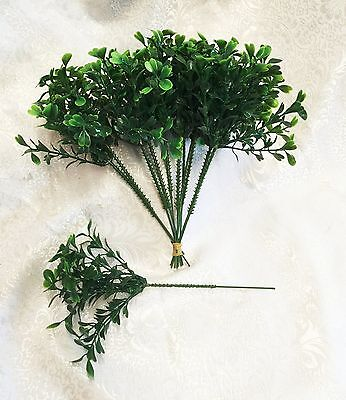 "12 BOXWOOD PICKS 9 "" High  Filler Greenery Silk Wedding Flowers Centerpieces"