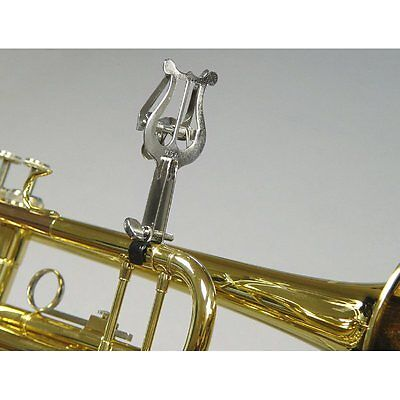 Universal Clamp Trumpet Lyre  - Nickel Plated