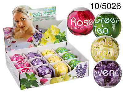 Flower Fruit Scented Bath Bombs Fizzer - Relaxation Bath Aromatherapy