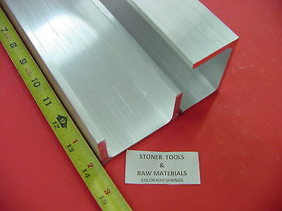 "2 Pieces 3""x 1.75"" ALUMINUM CHANNEL 6061 X .26"" Flang 14"" long T6 Mill Stock"